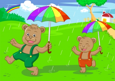 kids_umbrellas_BearBrothersInRainingDay_Image Credit To AKARAKINGDOMS